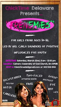 """Frenemies"" The Workshop: Beyond Sticks and Stones....March 22, 2014"