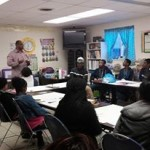 Speaker Al Roach speaking to the teens about their goal and dreams at The Imagine Me Teen Vision Board Workshop