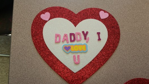One girl made this Valentine for her daddy ! so sweet <3