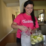 Elisa Making Infused Fruit Water