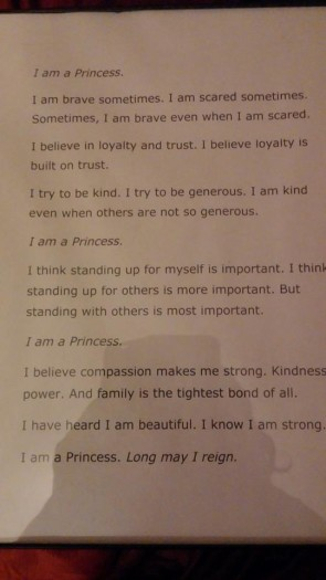 I am a Princess Poem