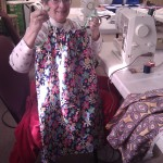 Mimi and the 1st dress made