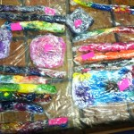 Tie Die T Shirts Wrapped