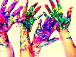 finger paint hands