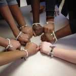 Some of the girls finished bracelets