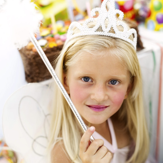Girl Dressed as a Fairy for a Birthday Party