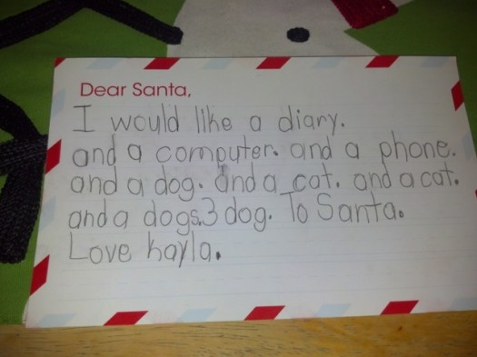 Another letter to Santa...